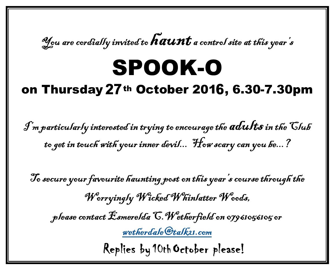 Spook-O invitation