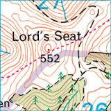 Lord's Seat map extract